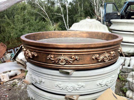 Бассейн для фонтана из бетона в бронзовом цвете
