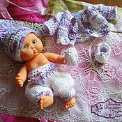 Куклы и игрушки ручной работы. Ярмарка Мастеров - ручная работа Комплект одежды для маленького пупса. Handmade.