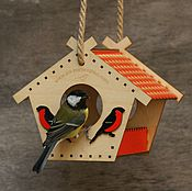 Для дома и интерьера handmade. Livemaster - original item A bird feeder from a tree house