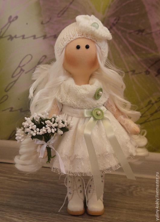 Коллекционные куклы ручной работы. Ярмарка Мастеров - ручная работа. Купить Текстильная куколка ручной работы Ляля. Handmade. Белый