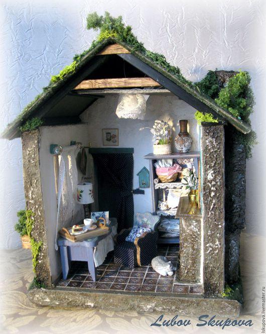 Кукольный дом ручной работы. Ярмарка Мастеров - ручная работа. Купить Дом, где живет счастье. Handmade. Комбинированный, комната