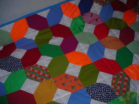 Текстиль, ковры ручной работы. Ярмарка Мастеров - ручная работа. Купить Лоскутное одеяло ИКС и НОЛЬ. Handmade. Комбинированный, цветное