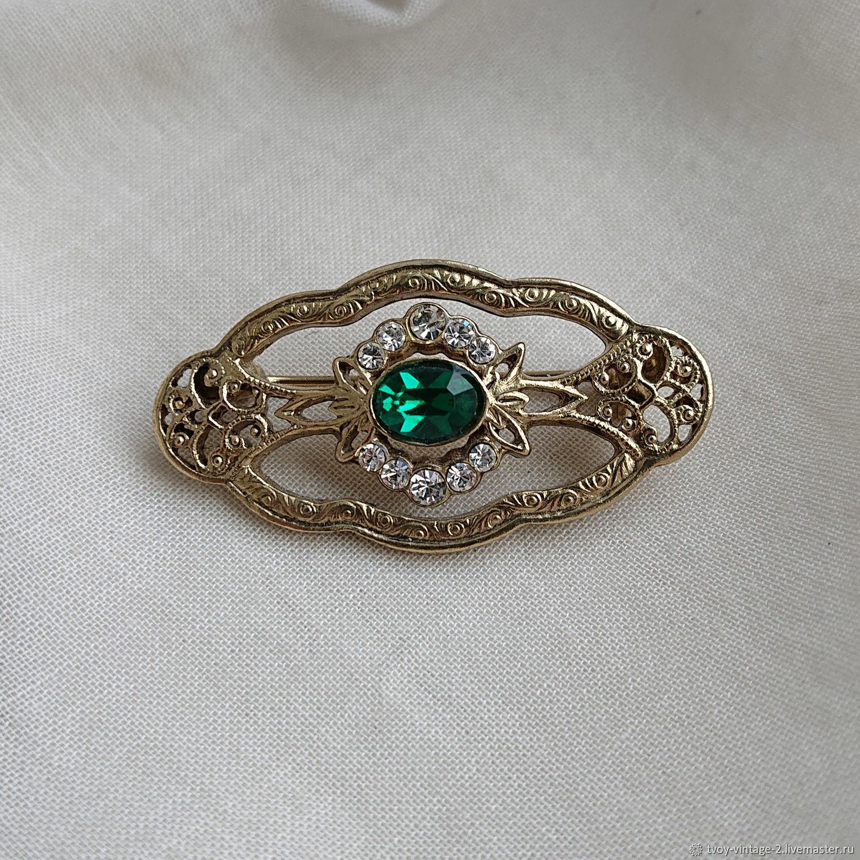 Винтаж: Лот 1928 Jewelry - Бесценная брошь, Броши винтажные, Москва,  Фото №1