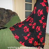 Платья ручной работы. Ярмарка Мастеров - ручная работа гофре, плиссе ткани. Handmade.