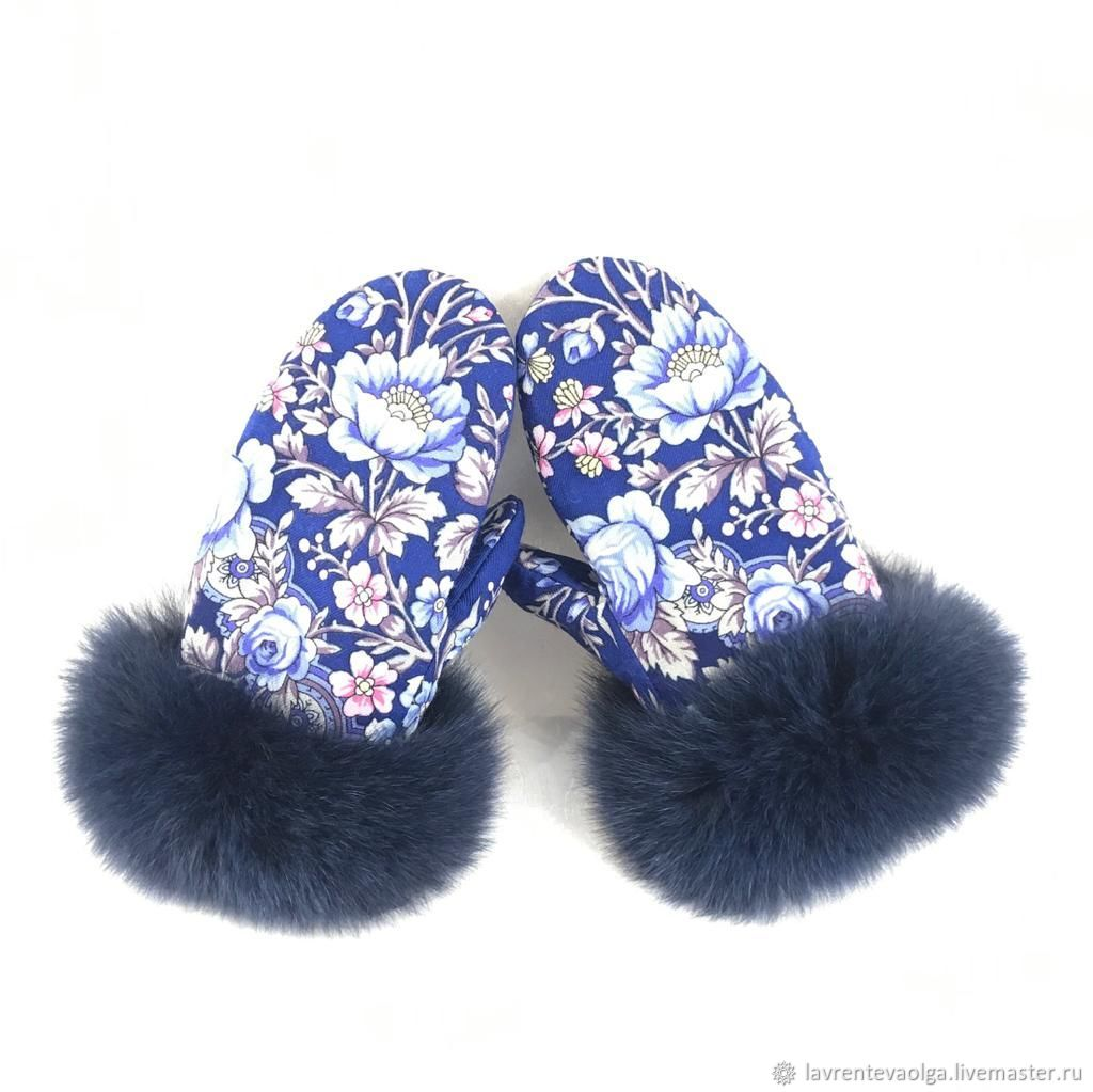 souvenir with fur, Mittens, Moscow,  Фото №1