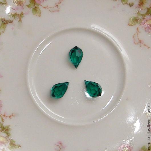 Для украшений ручной работы. Ярмарка Мастеров - ручная работа. Купить Бриолеты подвески Preciosa 10 мм - Emerald. Handmade.