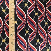 Материалы для творчества handmade. Livemaster - original item Fabric: Gucci silk-ribbons-dark blue background. Handmade.