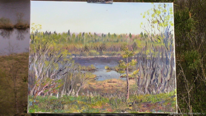 Река весной, Картины, Санкт-Петербург,  Фото №1