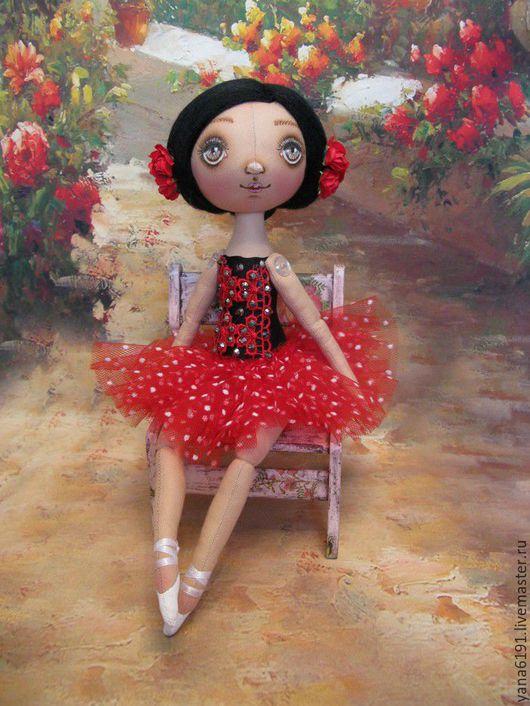 """Куклы тыквоголовки ручной работы. Ярмарка Мастеров - ручная работа. Купить Кукла- балерина """"Китри"""". Handmade. Ярко-красный"""