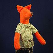Куклы и игрушки ручной работы. Ярмарка Мастеров - ручная работа Лисичка в брючках. Handmade.