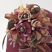 Куклы и игрушки ручной работы. Ярмарка Мастеров - ручная работа Улитка будуарная брусничная. Handmade.