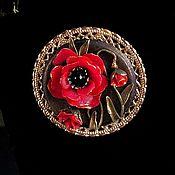 Украшения handmade. Livemaster - original item Brooch «Vintage poppies». Handmade.