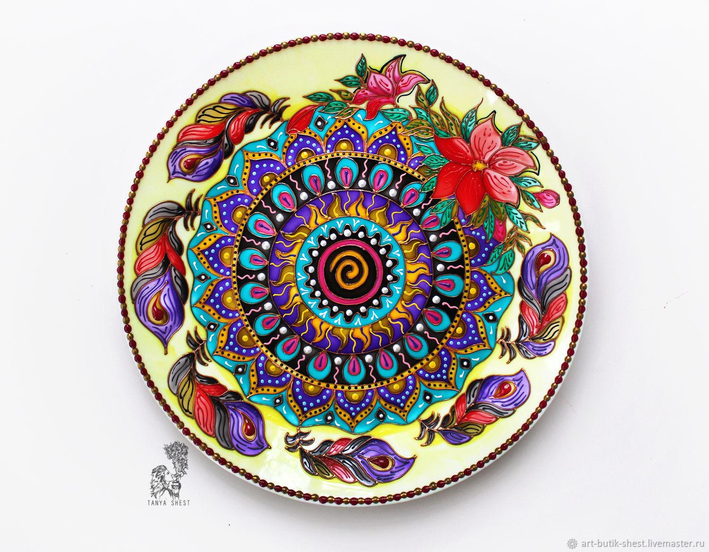 Mandala 'I believe I can fly' decorative plate, Plates, Krasnodar,  Фото №1