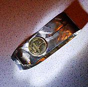 """Сувениры и подарки ручной работы. Ярмарка Мастеров - ручная работа Подарок мужчине - зажим для денег """"Копейка рубль бережет"""". Handmade."""