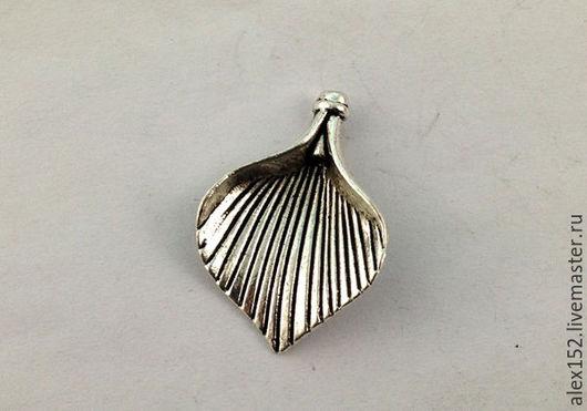 Для украшений ручной работы. Ярмарка Мастеров - ручная работа. Купить Листик декоративный 28 мм тибетское серебро. Handmade.