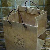 Материалы для творчества ручной работы. Ярмарка Мастеров - ручная работа Крафт-пакет с вашим логотипом. Handmade.