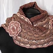 Аксессуары handmade. Livemaster - original item Scarf Snood design made of cotton ( chocolate). Handmade.