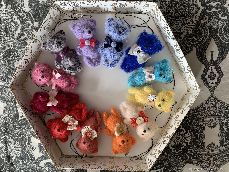 Медвежата-сувениры, вязаные!, Мягкие игрушки, Москва,  Фото №1