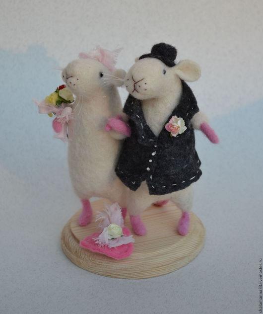 Подарки на свадьбу ручной работы. Ярмарка Мастеров - ручная работа. Купить Мышата. Handmade. Белый, свадьба, shalamanna, бумажные цветы