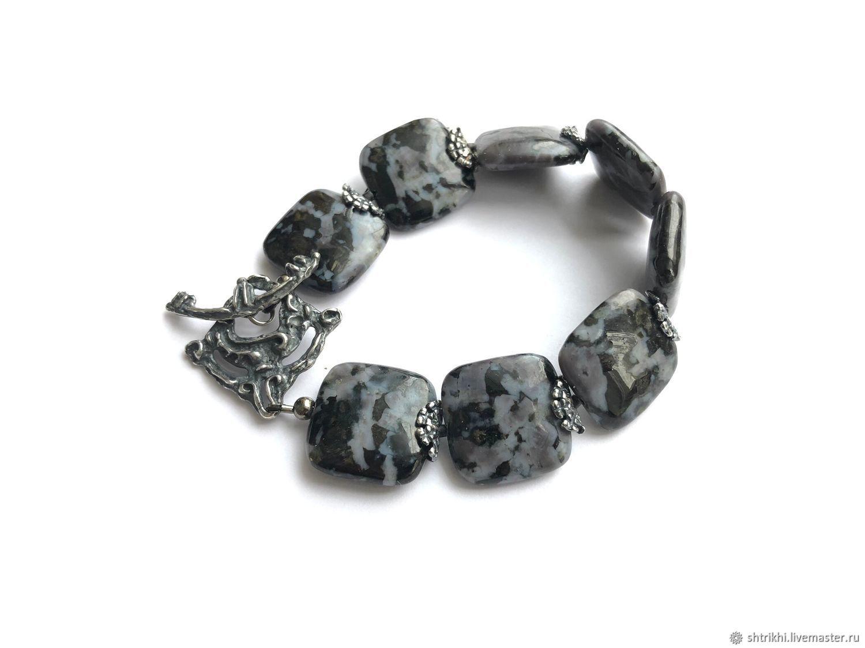 Black Feldspar Bracelet. Natural stone, accessories by Anna Chernykh, Bead bracelet, Moscow,  Фото №1