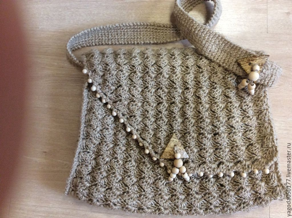 Bags & Accessories handmade. Livemaster - handmade. Buy Stylish shoulder bag of jute twine.Handmade