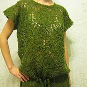 Одежда ручной работы. Ярмарка Мастеров - ручная работа Туника из мотивов. Handmade.