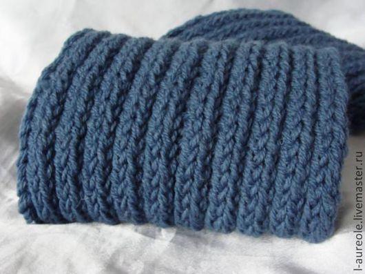"""Шарфы и шарфики ручной работы. Ярмарка Мастеров - ручная работа. Купить Синяя классика"""" мужской шарф. Handmade. Синий"""