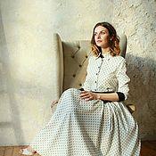 Одежда handmade. Livemaster - original item Retro Square shirt dress.. Handmade.