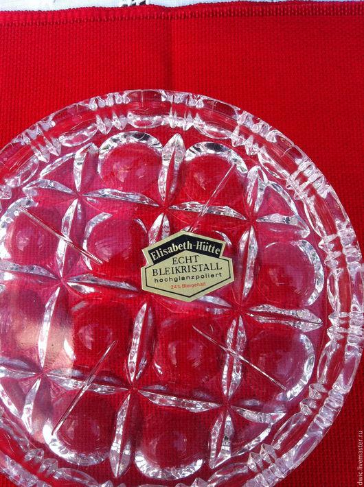 Винтажная посуда. Ярмарка Мастеров - ручная работа. Купить Хрустальные розетки ручной работы (Elisabeth Hutte), Германия. Handmade. Розетки