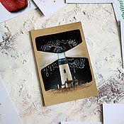 Открытки ручной работы. Ярмарка Мастеров - ручная работа Ночной маяк - открытка. Handmade.
