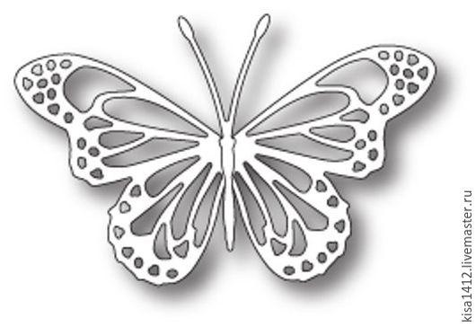 Открытки и скрапбукинг ручной работы. Ярмарка Мастеров - ручная работа. Купить Форма  98745  для Вырубки Lunette Butterfly. Handmade. Скрапбукинг
