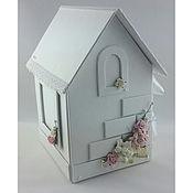 Свадебный салон ручной работы. Ярмарка Мастеров - ручная работа Домик для денежных подарков (бело-розовый). Handmade.