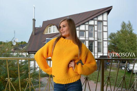 """Кофты и свитера ручной работы. Ярмарка Мастеров - ручная работа. Купить Копия работы: Вязаный свитер ручной вязки """"Оверсайз"""". Handmade."""