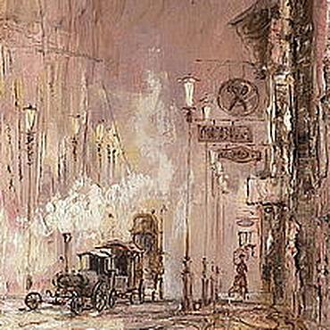 """Картины и панно ручной работы. Ярмарка Мастеров - ручная работа """"Последний трамвай"""". Handmade."""