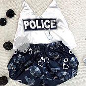 Пижамы ручной работы. Ярмарка Мастеров - ручная работа Пижама «полиция». Handmade.