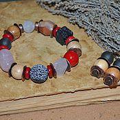 Украшения handmade. Livemaster - original item Kit with juniper beads. Handmade.