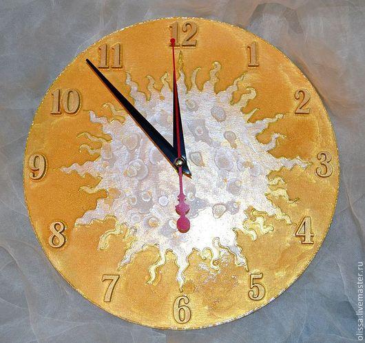 """Часы для дома ручной работы. Ярмарка Мастеров - ручная работа. Купить Часы настенные """"Светило"""". Handmade. Настенные часы, дерево"""