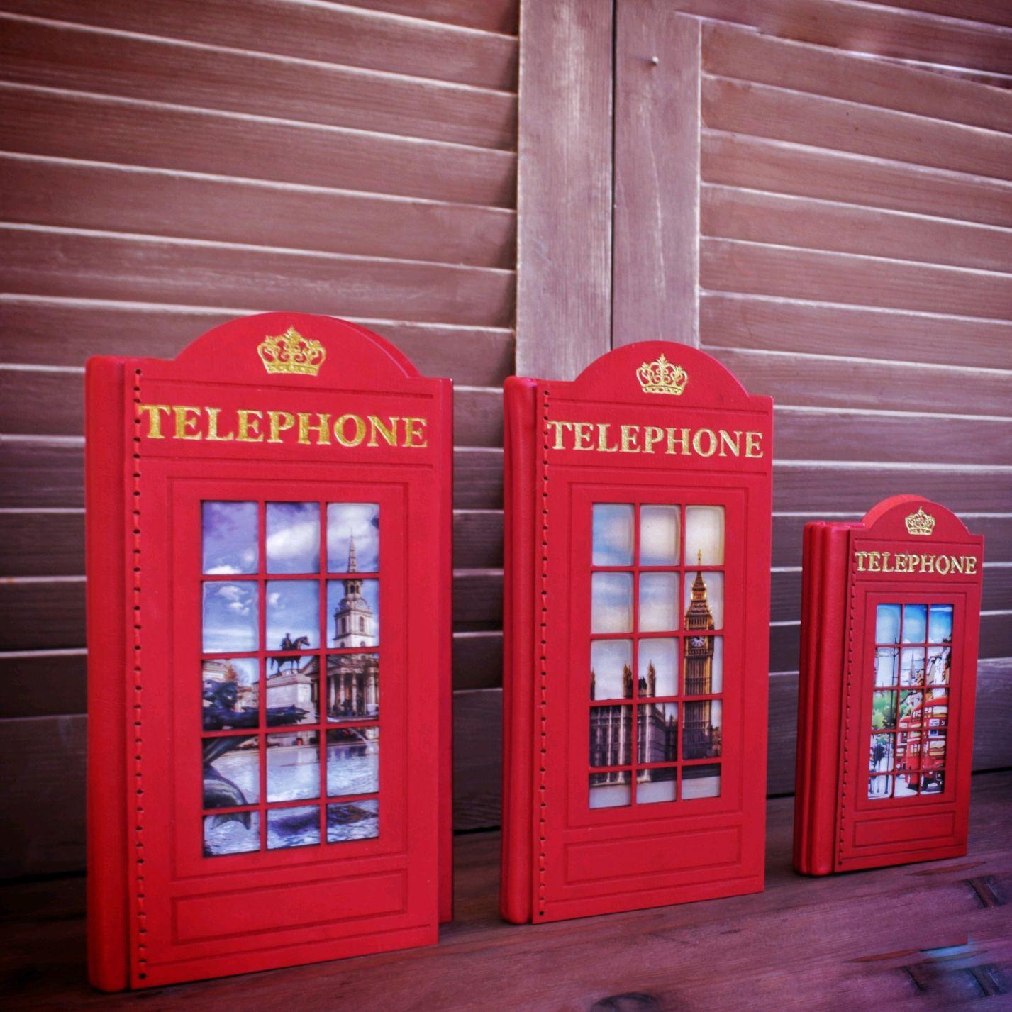 """Блокнот """"Телефонная будка"""" деревянный, Блокноты, Калининград,  Фото №1"""