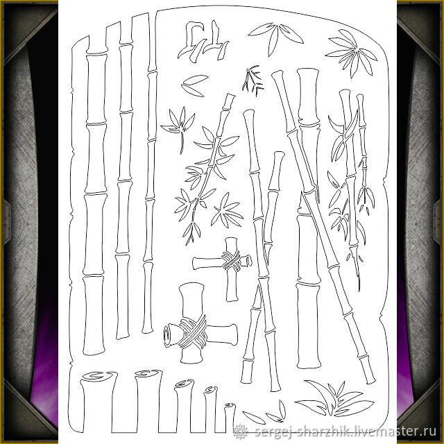 Трафарет Бамбук А4 лист пластика, Трафареты, Псков,  Фото №1
