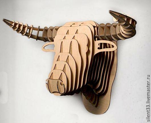 Интерьерные  маски ручной работы. Ярмарка Мастеров - ручная работа. Купить Голова быка. Handmade. Голова быка, чучело, пропитка