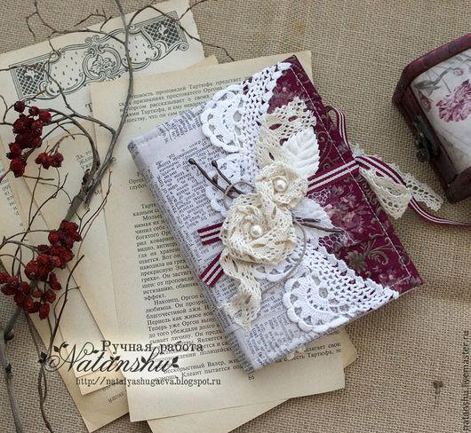 Блокноты ручной работы. Ярмарка Мастеров - ручная работа. Купить Блокнот ручной работы с кружевными розами. Handmade. Комбинированный, блокнот