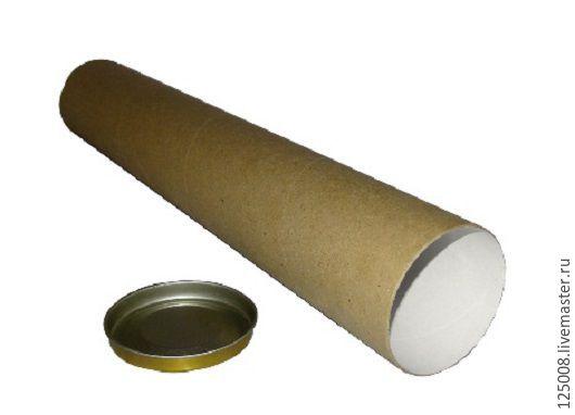 Упаковка ручной работы. Ярмарка Мастеров - ручная работа. Купить Тубус D-100мм длина - 100 см. Handmade. Бурый