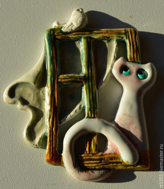 Конфетницы, сахарницы ручной работы. Ярмарка Мастеров - ручная работа. Купить котик керамика магнит. Handmade. Салатовый, кот в подарок