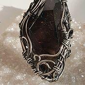 Украшения handmade. Livemaster - original item Ring with smoky quartz crystal. Handmade.