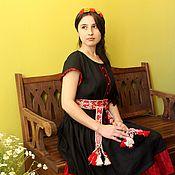 Одежда ручной работы. Ярмарка Мастеров - ручная работа Платье летнее в этно-стиле. Handmade.