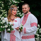 "Русский стиль handmade. Livemaster - original item Dress  ""Wedding"".. Handmade."