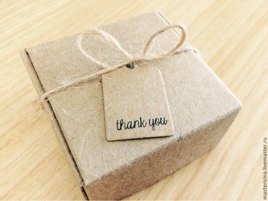 Упаковка ручной работы. Ярмарка Мастеров - ручная работа. Купить Коробочка для упаковки крафт квадратная 2. Handmade. Бежевый, упаковка