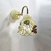 Для дома и интерьера handmade. Livemaster - original item Autumn in the Park - wall lamp (sconce). Handmade.