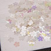 Пайетки ручной работы. Ярмарка Мастеров - ручная работа Мотивы цветы Франция Mix White 1207R, 10 мм. Handmade.