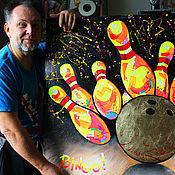 Картины и панно handmade. Livemaster - original item Bingo picture! 105h85 cm. Handmade.
